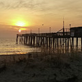 Sunrise At Pier's End by Robert Banach