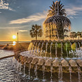 Sunrise At Pineapple Fountain by Lynne Jenkins