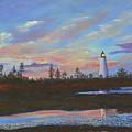 Sunrise At Point Prim by Lorraine Vatcher