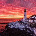 Sunrise At Portland Head Lighthouse by Benjamin Williamson