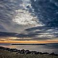 Sunrise At Rudee Inlet by Jeff Clarke