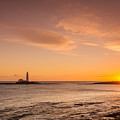 Sunrise At St Mary's Lighthouse by David Head