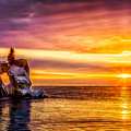 Sunrise At The Arch by Rikk Flohr
