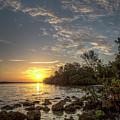 Sunrise At The Sunshine Skyway by Ronald Kotinsky
