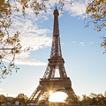 Sunrise At The Tour Eiffel In Autumn - Paris - France by Matteo Colombo
