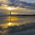 Sunrise At The Train Bridge by Amazing Jules
