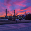 Sunrise At Waupaca Foundry Plants 2 And 3 3-24-2018 by Thomas Young