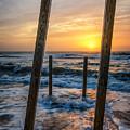 Sunrise Between The Pillars Landscape Photograph by Melissa Fague
