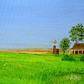 Sunrise - Country Australia Painting by Fran Caldwell