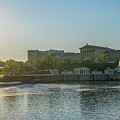 Sunrise - Fairmount Waterworks And Philadelphia Art Museum by Bill Cannon