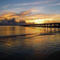 Sunrise Fort Clinch Pier by Timothy Cummiskey