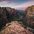 Sunrise From Angels Landing by James Udall