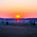 Sunrise From Confederate Avenue Gettysburg by William Rogers