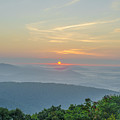 Sunrise From Indian Run Overlook - Shenandoah Mountains by Bill Cannon