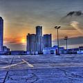 Sunrise In Detroit Mi by Nicholas  Grunas