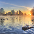 Sunrise In January Over Austin Texas 5 by Rob Greebon