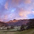 Sunrise In The Langdale Valley, Lake District, England. by Justin Foulkes