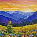 Sunrise In The Mountains by Olga Malamud-Pavlovich