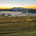 Sunrise Landscape Over Morganton Town In  North Carolina  by Alex Grichenko