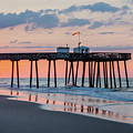 Sunrise Ocean City Fishing Pier by Photographic Arts And Design Studio