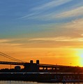 Sunrise On Ben Franklin Bridge by Andrew Dinh