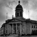 Sunrise On Cherokee County Courthouse In Black And White by Greg Mimbs