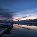 Sunrise On Mcdonald Lake by Lon Dittrick