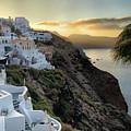 Sunrise On Santorini by Alan Olmstead