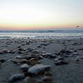 Sunrise On The Beach by D Hackett