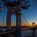 Sunrise On The Gwb, Nyc - Landscape by James Aiken