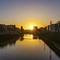 Sunrise On The Liffey River - Dublin Ireland by Bill Cannon