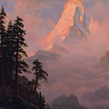Sunrise On The Matterhorn         by Albert Bierstadt