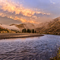 Sunrise On The Salmon Idaho Landscape Art By Kaylyn Franks by Omaste Witkowski