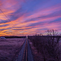 Sunrise On The Train Tracks 3-24-2018 by Thomas Young