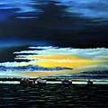 Sunrise Over Boulmer Beach by John Cox