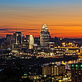 Sunrise Over Cincinnati by Keith Allen
