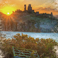 Sunrise Over Corfe by Don Kuing