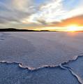 Sunrise Over Lake Gairdner, by Genevieve Vallee