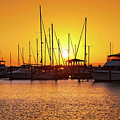 Sunrise Over Long Beach Harbor - Mississippi - Boats by Jason Politte