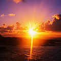 Sunrise Over Ocean, Sandy Beach Park by Panoramic Images