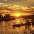 Sunrise Over  Payette River by Robert Bales