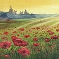 Sunrise Over Poppies by Antonio Mazzola