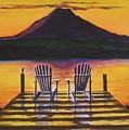 Sunrise Over Rainier by CB Woodling