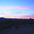 Sunrise Over Rincon Mountains by Warren Still