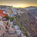Sunrise Over Santorini, Greece 1 by Rob Greebon