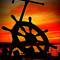 Sunrise Over The Captain's Wheel 2 by Suzanne DeGeorge