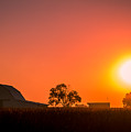 Sunrise Over The Farm by Ron Pate