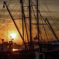 Sunrise Over The New Bedford Harbor by John Hoey