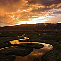 Sunrise Over Winding River by Wesley Aston