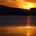 Sunrise Over Yellowstone Lake by Bruce Gourley